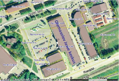 Jewe keskuse planeeringu vaade Prestone OÜ